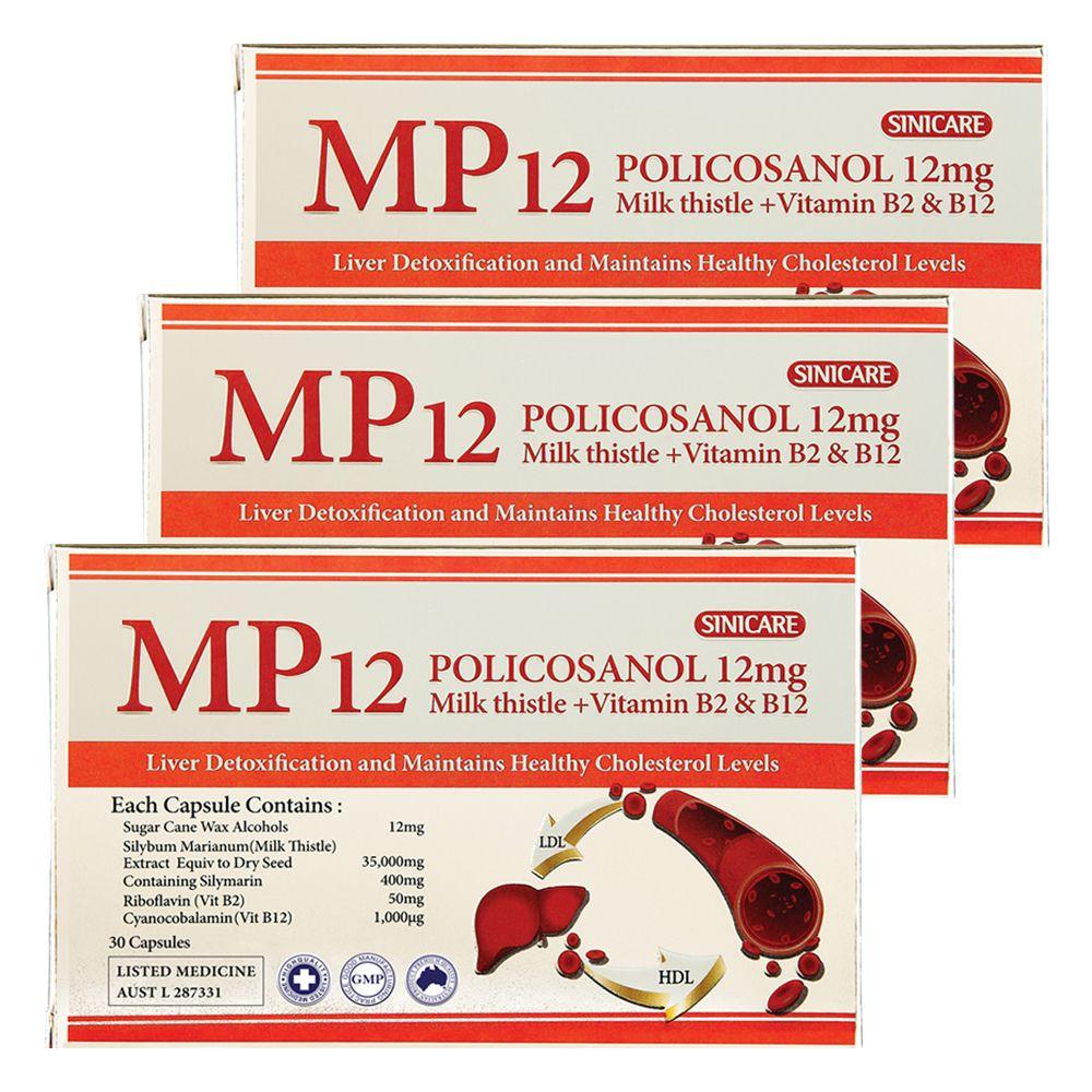 호주 시니케어 MP12 폴리코사놀 12mg 30캡슐 3개세트