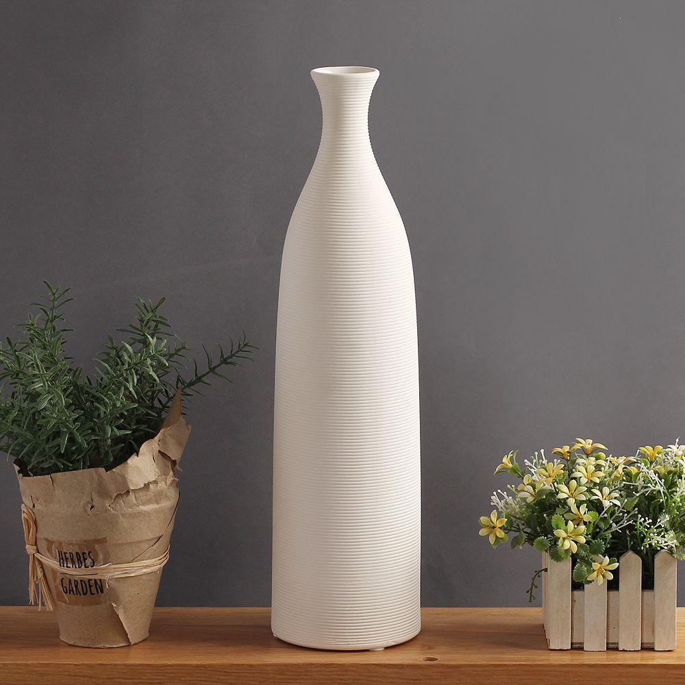 (V26)인테리어 진스 도자기 인테리어 꽃병(33cm)