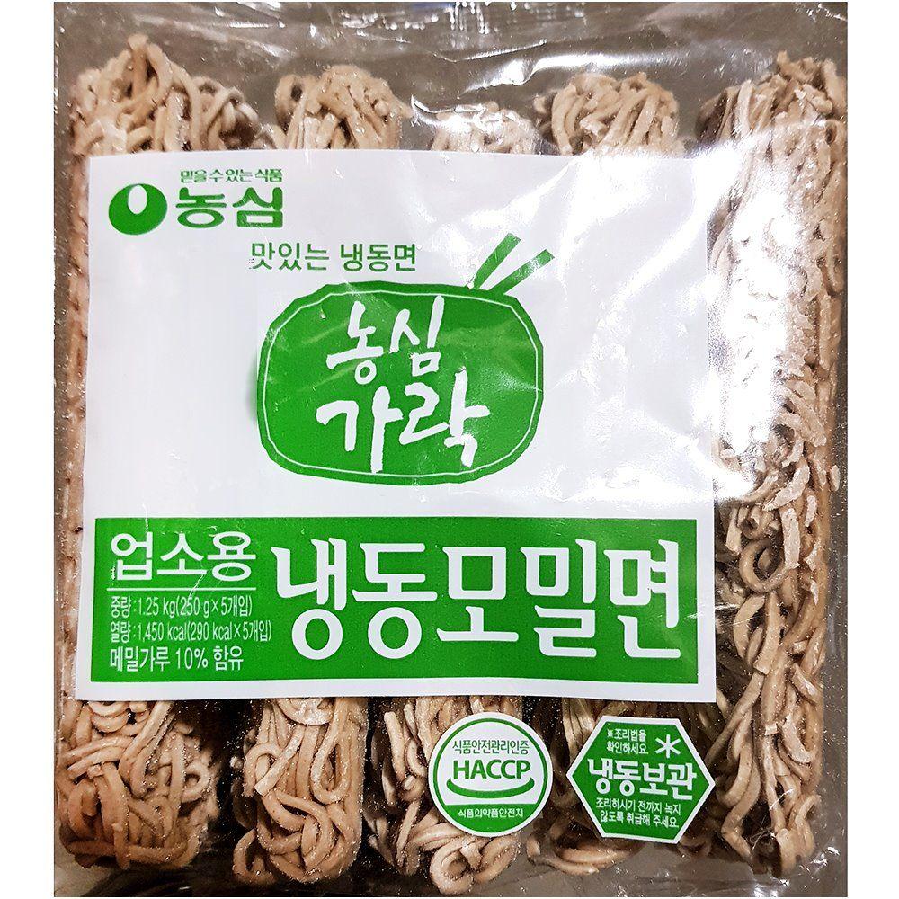 업소용 식당 식자재 농심 가락 냉동모밀면 1.25kg