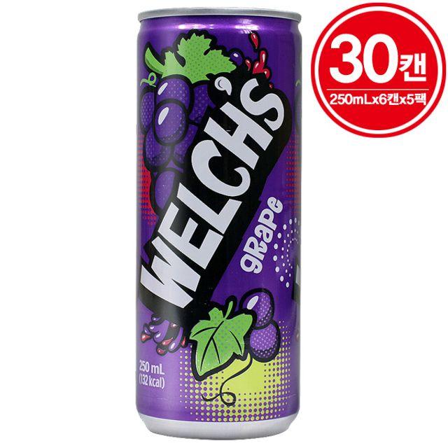 농심 웰치스 포도맛 250ml(30캔)웰치포도맛