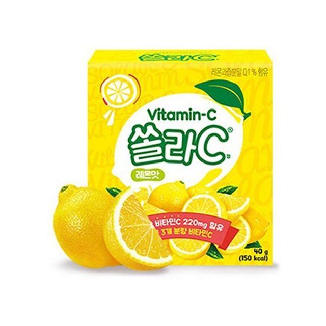 쏠라C 20정 레몬맛 씹어먹는 비타민C 츄어블 무설탕