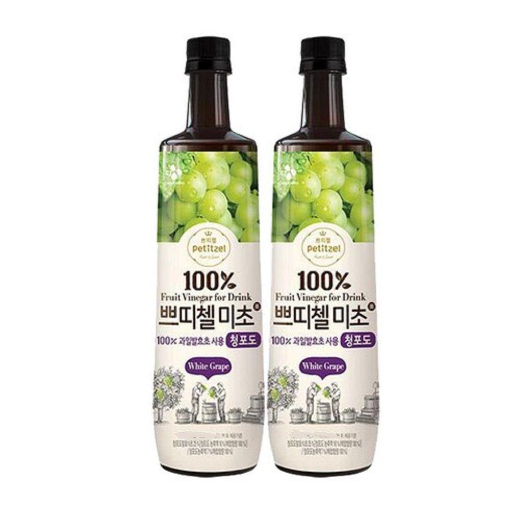 쁘띠첼 미초 청포도 500ml+500ml/홍초/흑초/식초음료