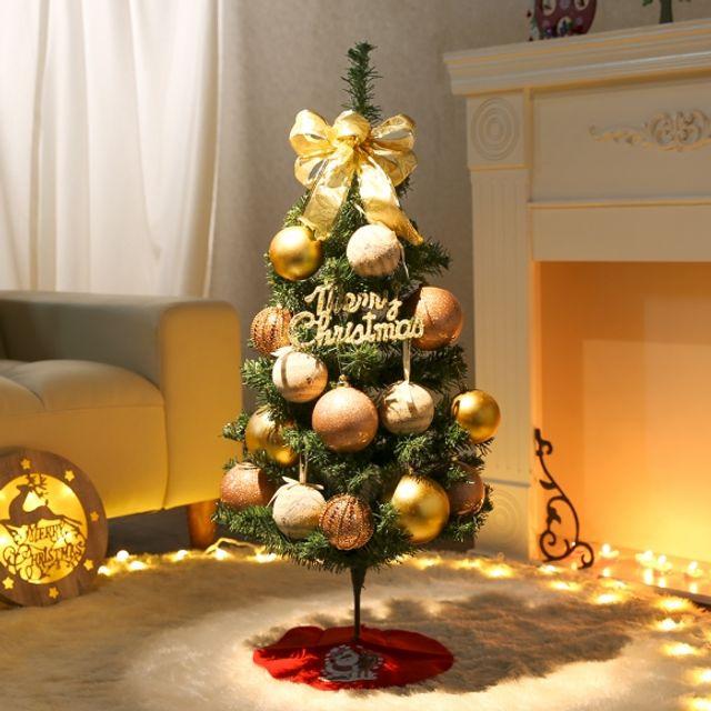 성탄절 90cm 샴페인뮤직 스카치트리 풀세트 크리스마스 트리 인테리어 장식 5408D6