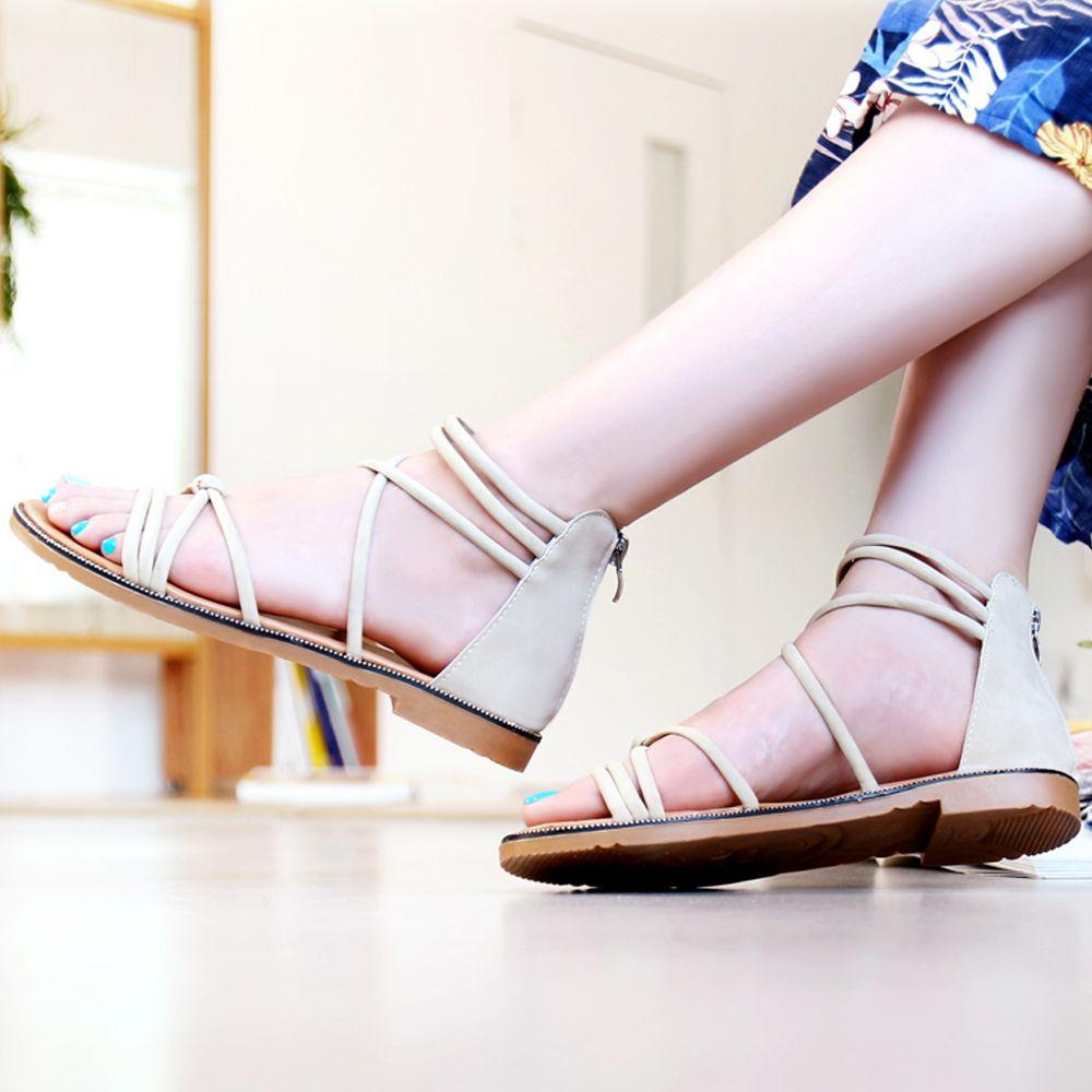 여성 여름 바캉스 끈샌들 스트랩샌들 캐주얼 신발