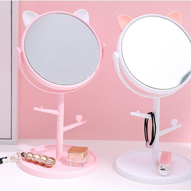 스탠드 거울 귀여운 탁상 메이크업 화장 거울 데스크