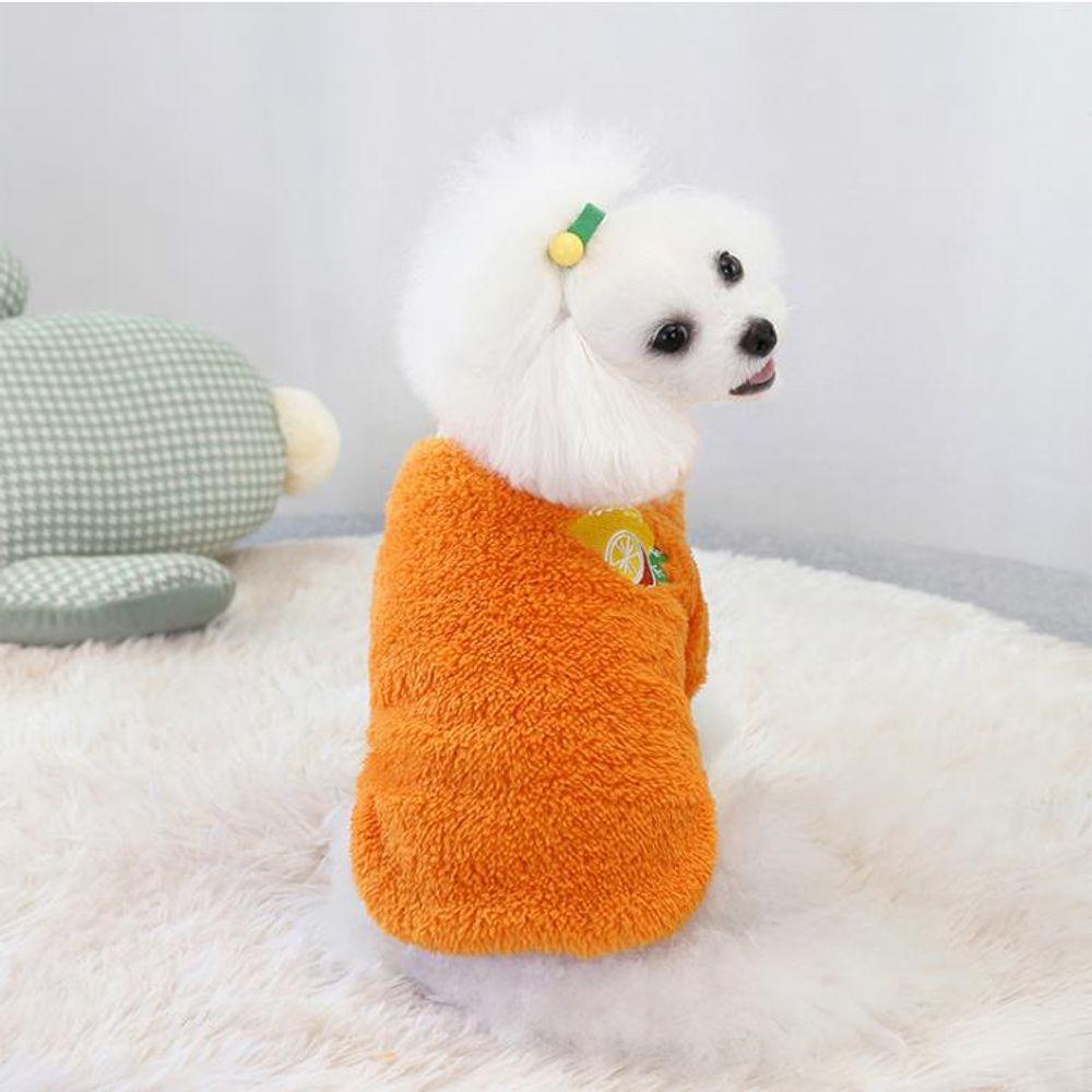 키밍 강아지 겨울옷 컬러티 방한 과일옷 보온털