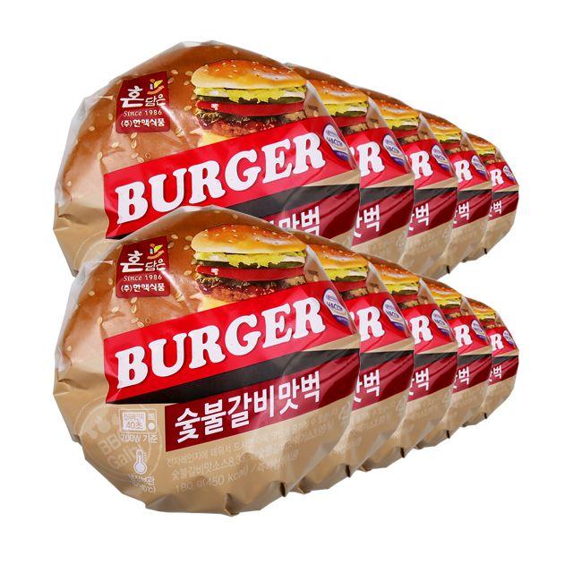 한맥 PC방 수제 숯불 갈비 맛 벅 햄버거 180gx10개