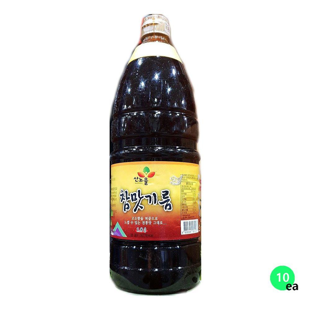 산노을 맛기름 향미유 조미기름 양념기름 1.8LX10