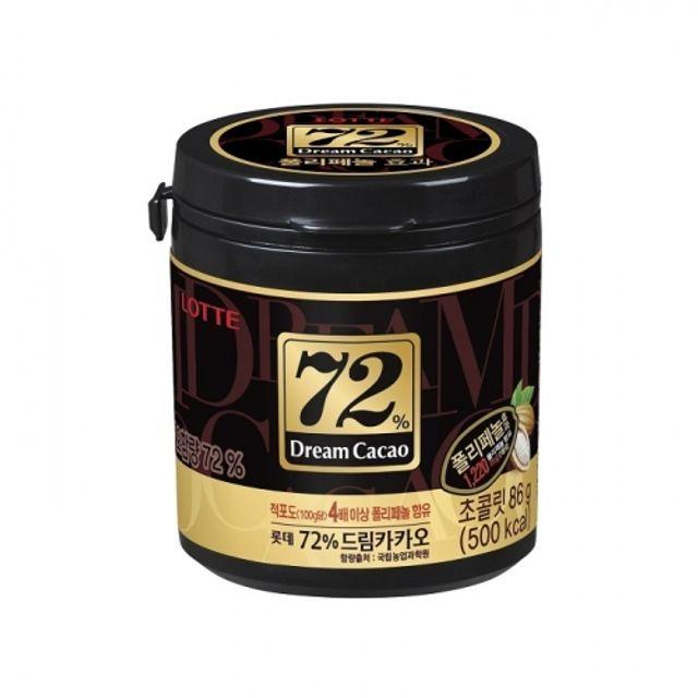 드림카카오 72퍼센트 86g 24개 롯데 초콜릿 과자 간