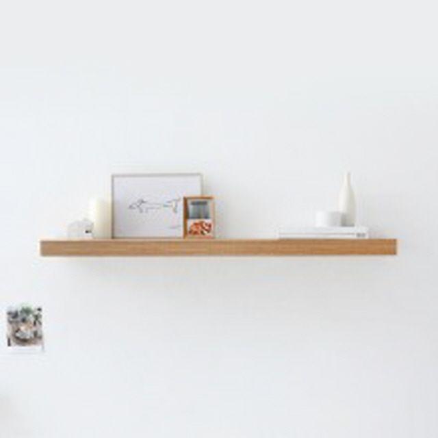 마켓비 ENKEL 모던한 벽선반 110x26x5 라이트브라운