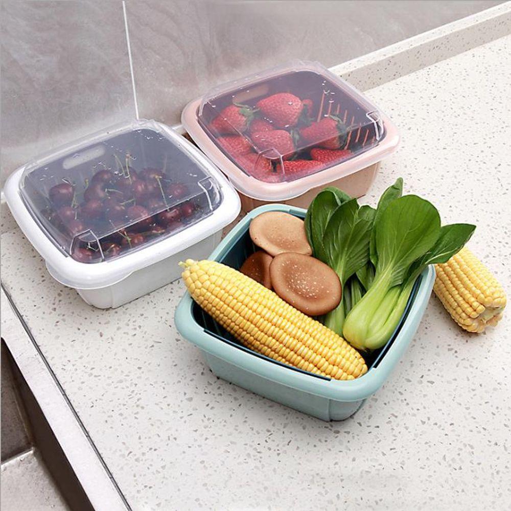 키밍 다용도 커버 바구니 물빠짐 냉장고 다용도 과일
