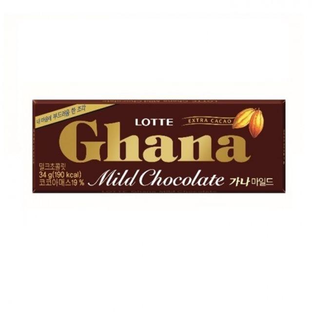 가나 마일드 초콜릿 34g 120개 대량 과자 박스 초코