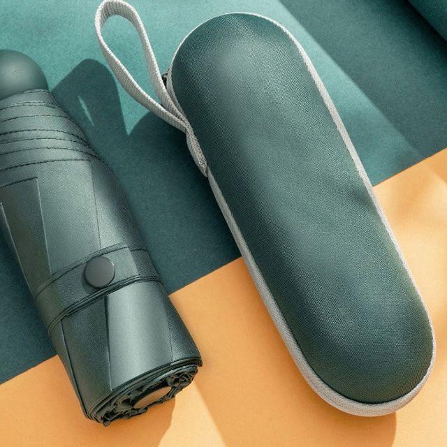 경량 양산 우산 자외선차단 5단 캡슐 우양산 다크그린