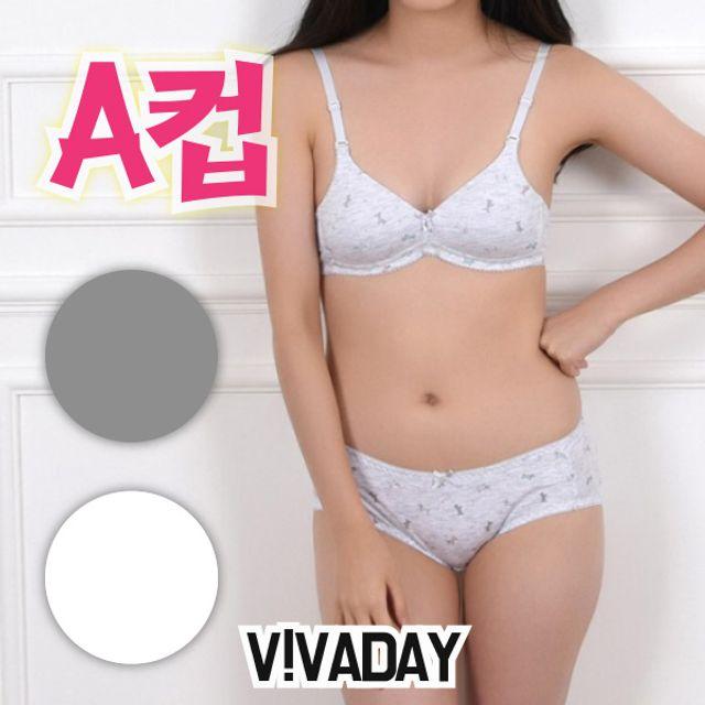 아이속옷 VIVADAY-CN19 주니어몰드A컵브라팬티세트 아동속옷 주니어팬티