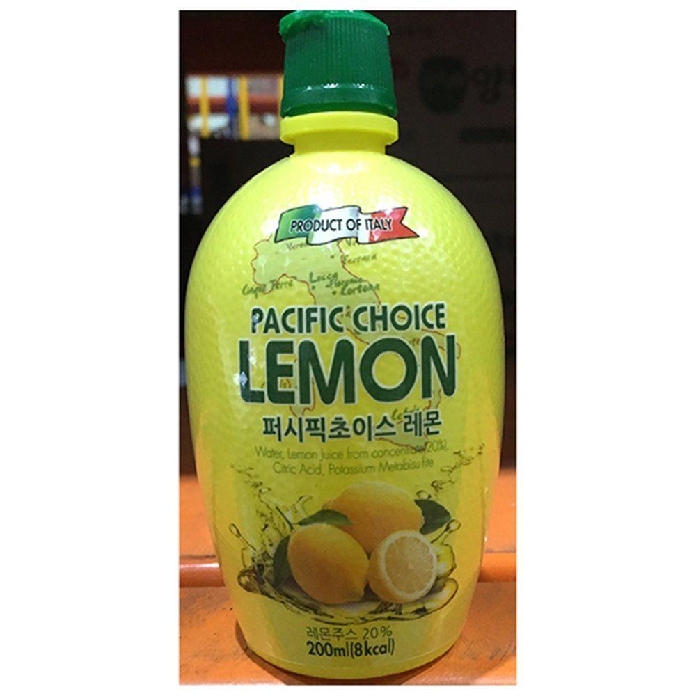레몬 주스 농축액 퍼시픽 200ml X12개 음료 베이스