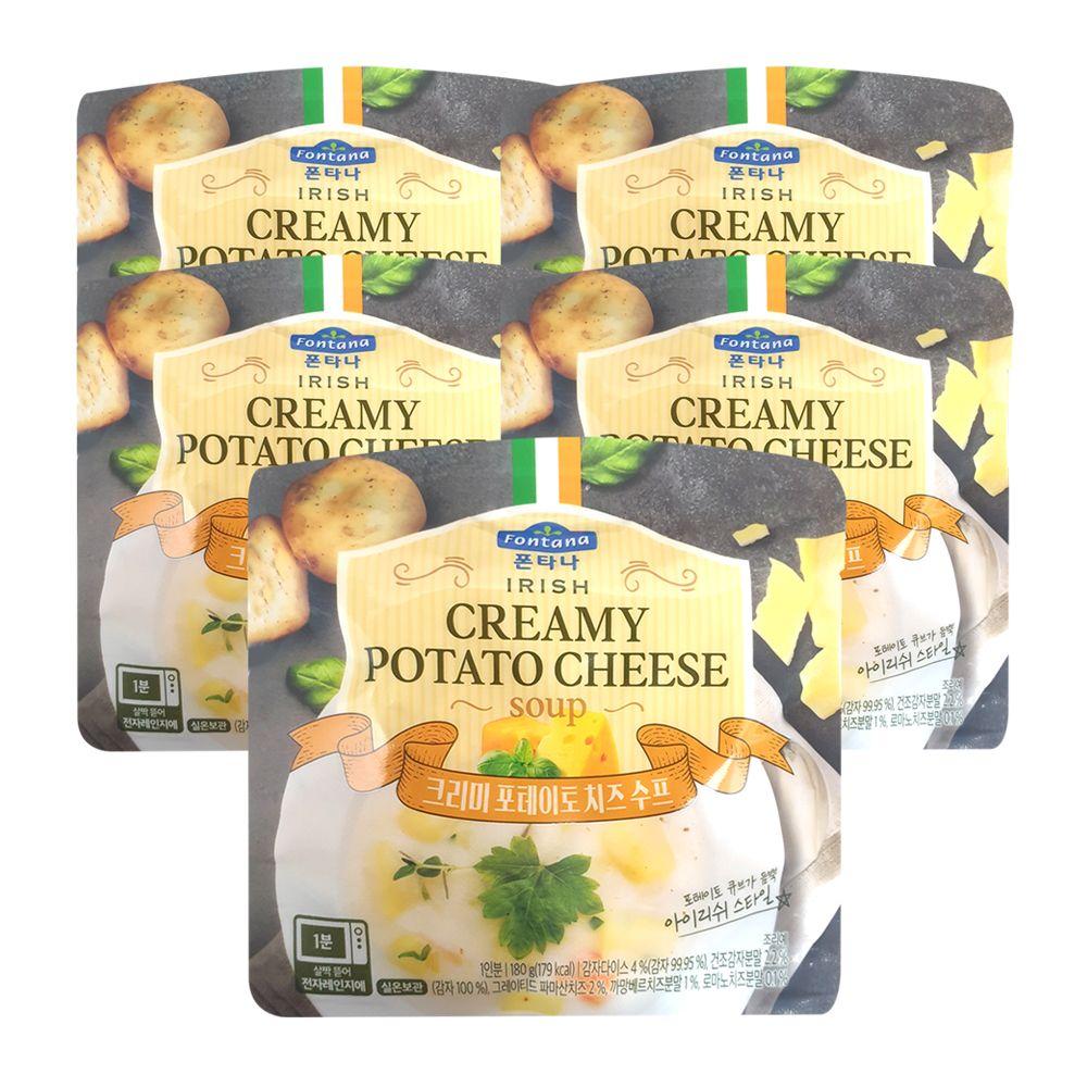 폰타나 크리미 포테이토 치즈수프 180g x 5개