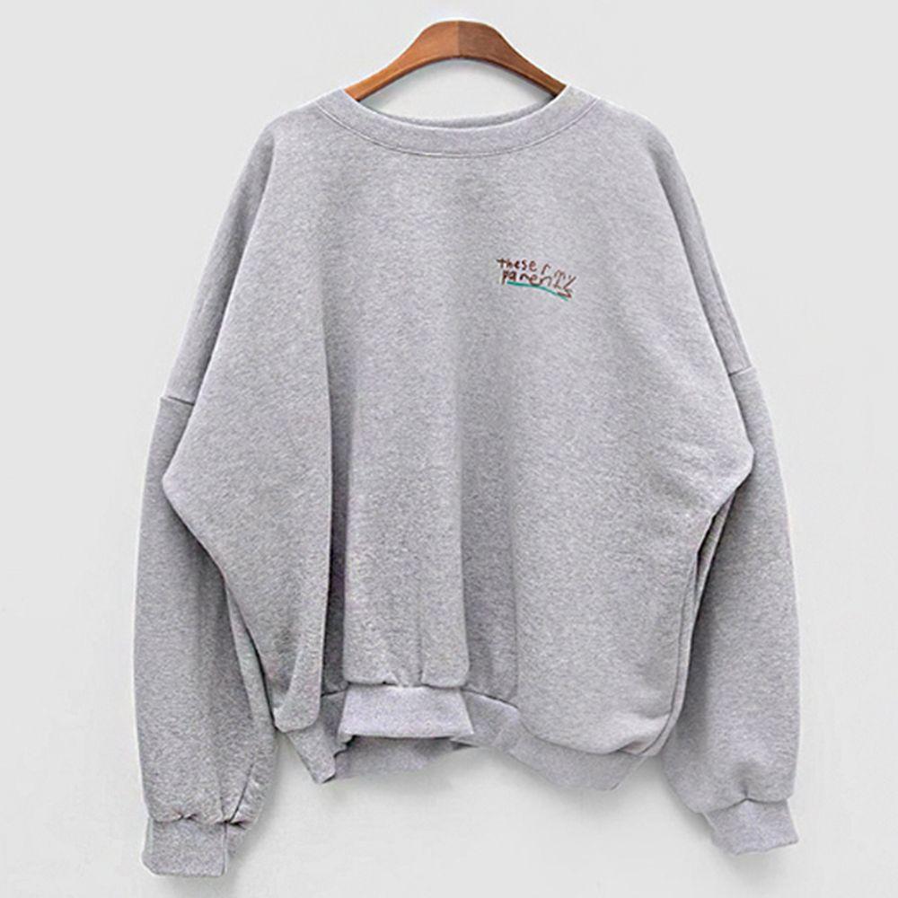 루즈핏 핏감 여성 캐주얼 일상 패션 맨투맨 티셔츠