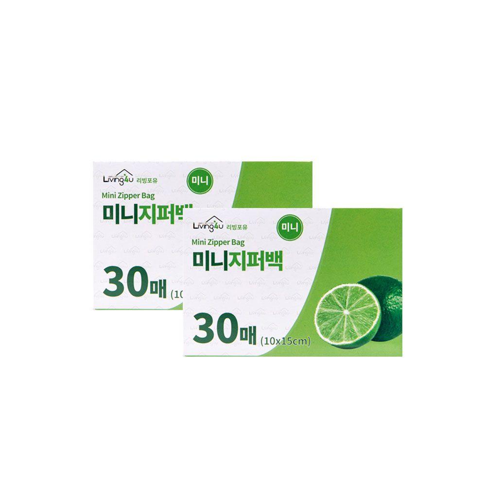 미니지퍼백(30매) 10x15 1개-일회용 비닐봉투 지퍼팩