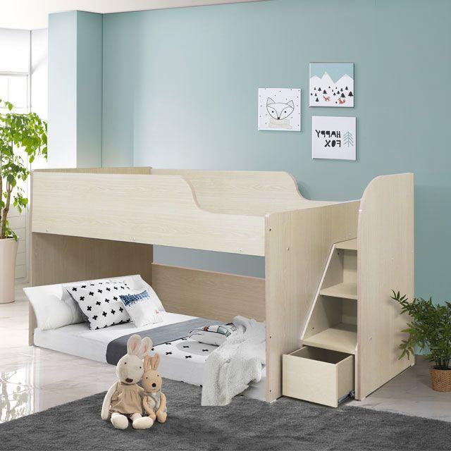 하이틴 초등학생 벙커 침대 세트 어린이 2층침대