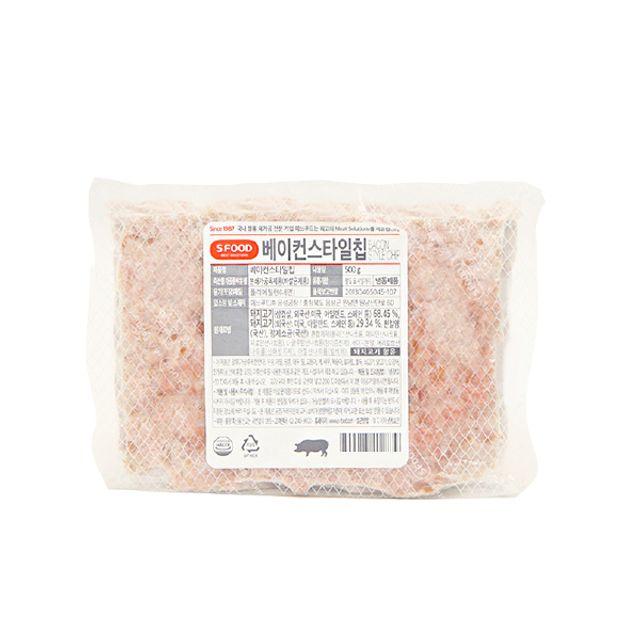 에쓰푸드 스타일칩 베이컨 500g
