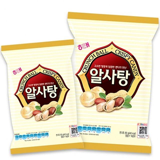 해태)알사탕 81g x 10개 땅콩이 함유된 고소한 캔디 달콤 고소