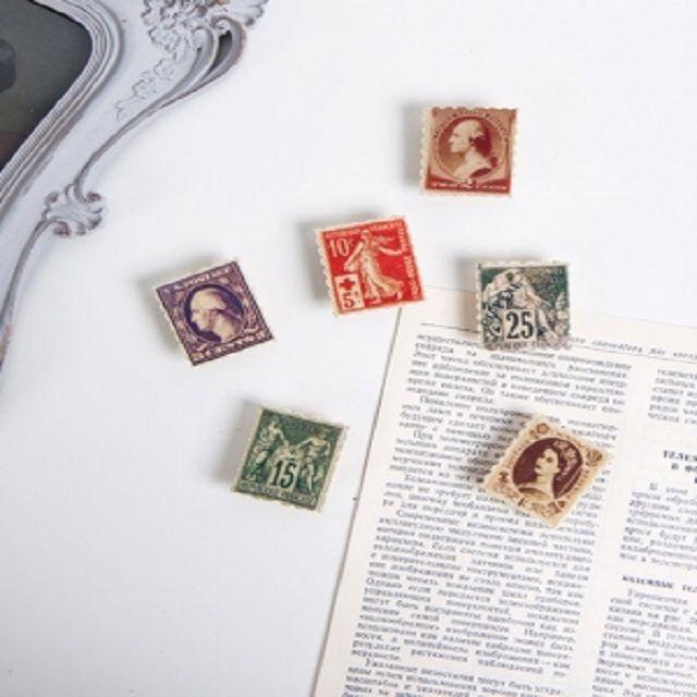 냉장고자석 클래식 우표 자석 6종 카페 주방 소품