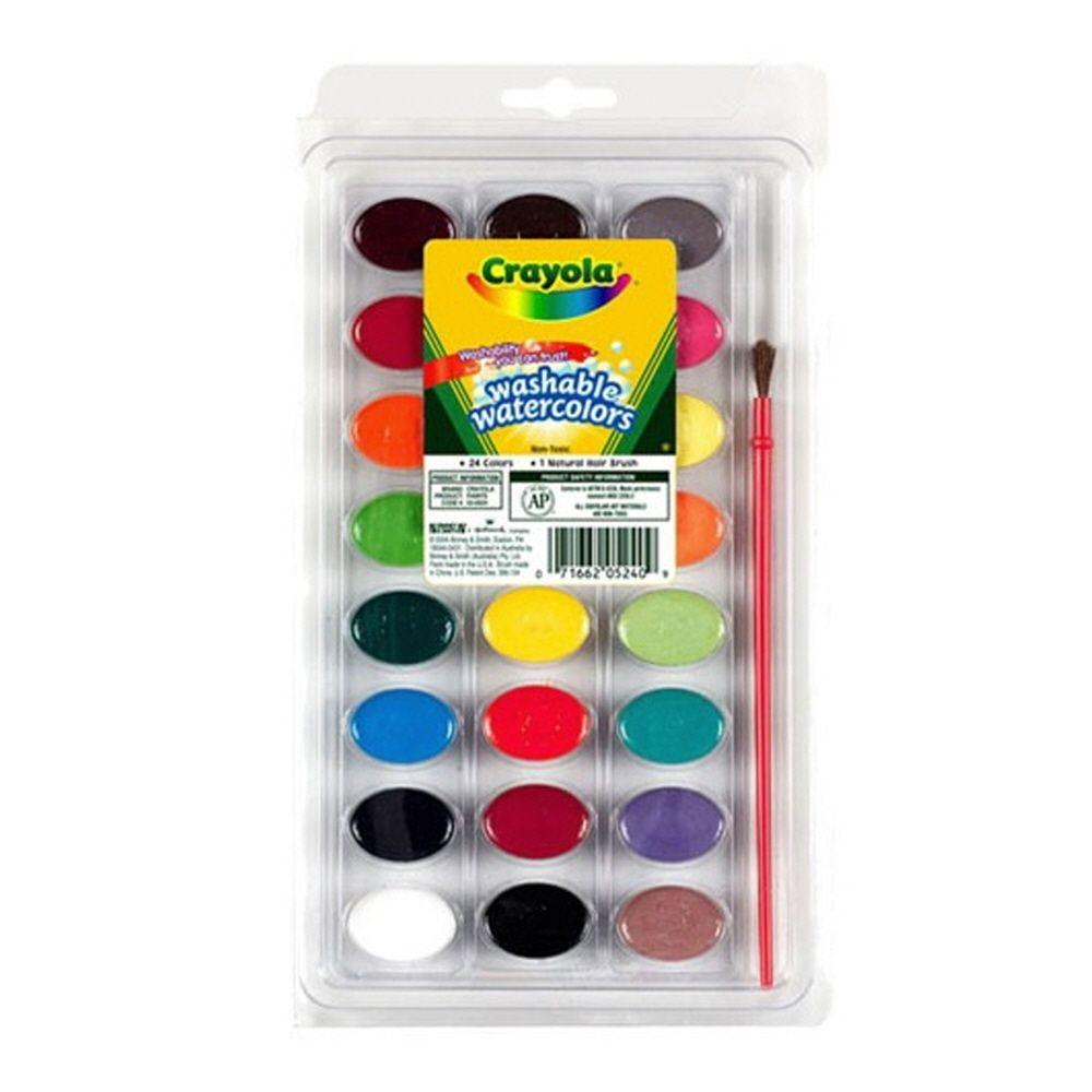 유아 어린이집 미술 생일 선물 수채화 물감 24색과 붓
