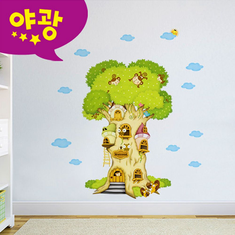 포인트벽지 퍼즐빅나무 MDM 001 포인트스티