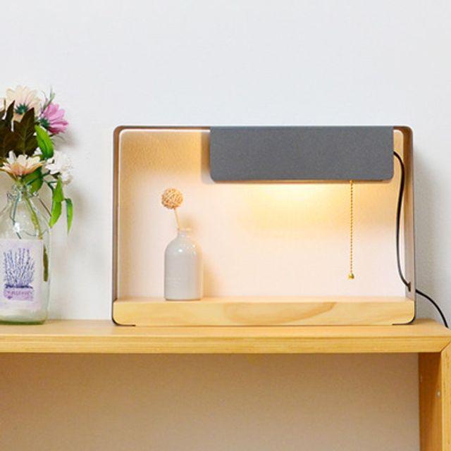테이블 우드 단스탠드 LED조명 벽걸이겸 인테리어조명