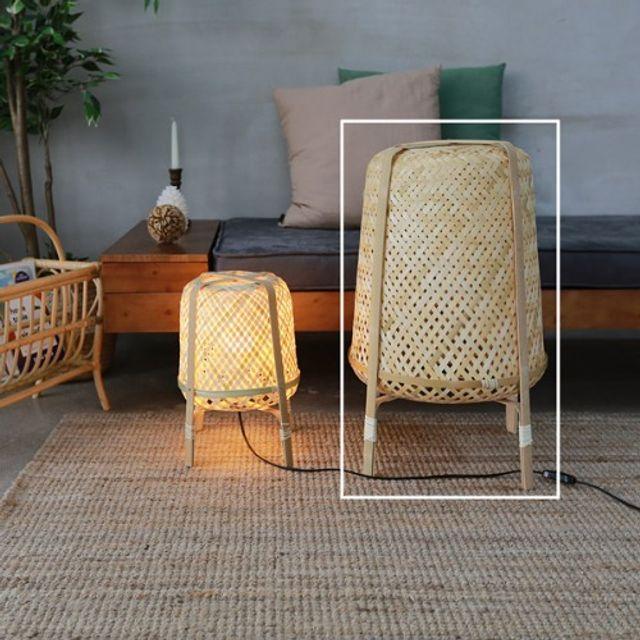 뱀부 스탠드램프(대) 천연 대나무 조명 침실 거실용