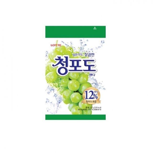 롯데 청포도 캔디 323g 6봉지 과일맛 사탕 새콤 간
