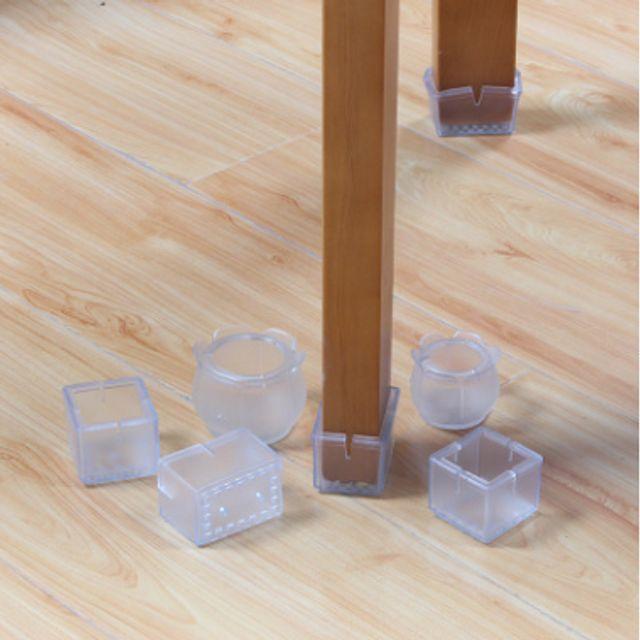 반투명 식탁의자발커버 실리콘 의자발캡 4개set