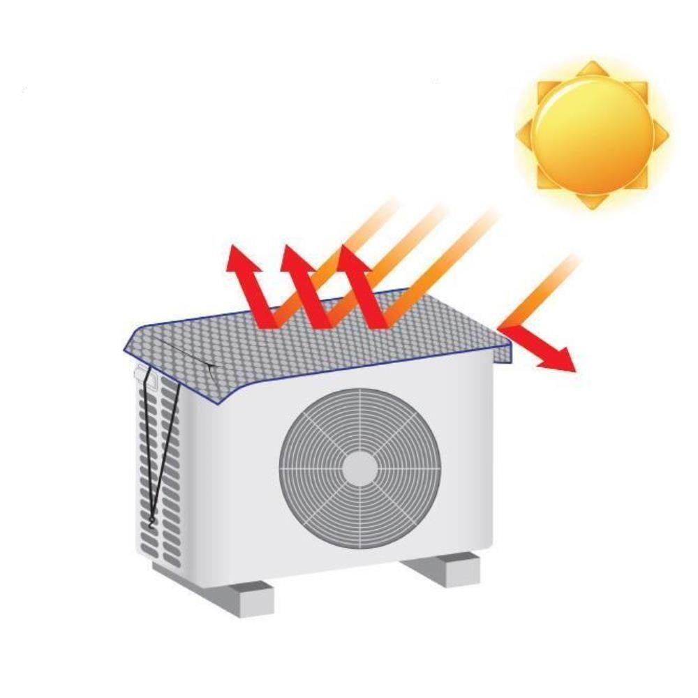 (중형) 실외기커버 햇빛가리개 에어컨실외기
