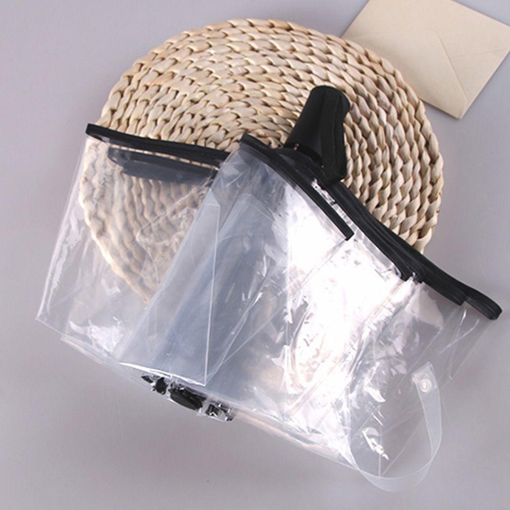 튼튼한 투명 고급 3단 초경량 완전 자동 우산 블랙