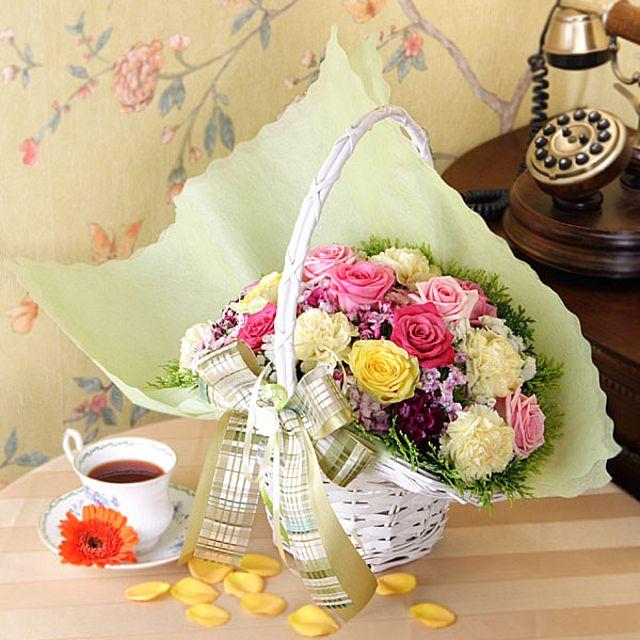 웃는거야 꽃바구니-중급 3시간배송 전국 꽃배달 고백 결혼 기념일 감사선물