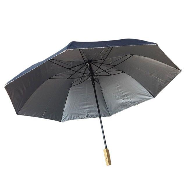 접이식 휴대용 장마철 대비 2단 실버 반자동 우산