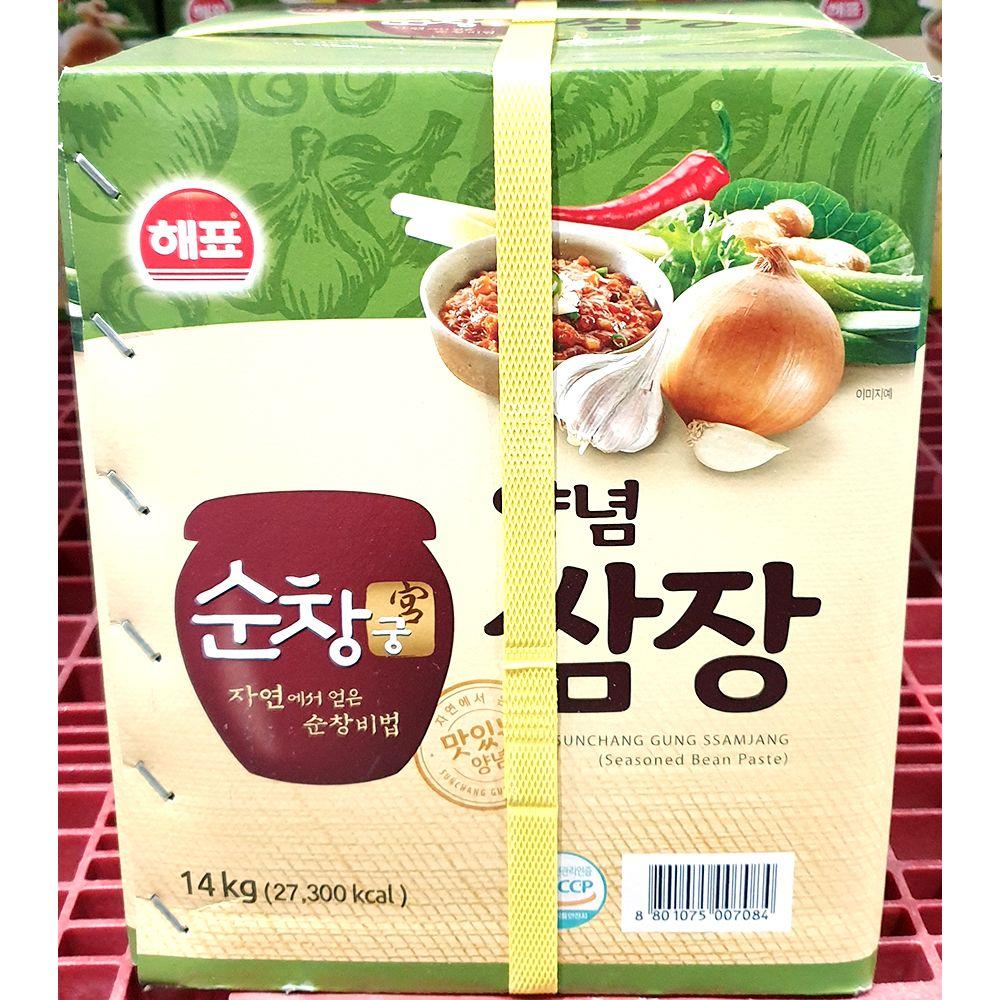 쌈장 지함 순창궁 사조 14kg 대용량 업소용 양념장