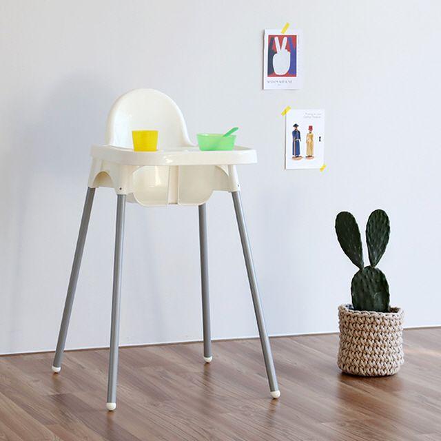 마켓비 SIGTAG 유아식탁의자 화이트+유아트레이 세트