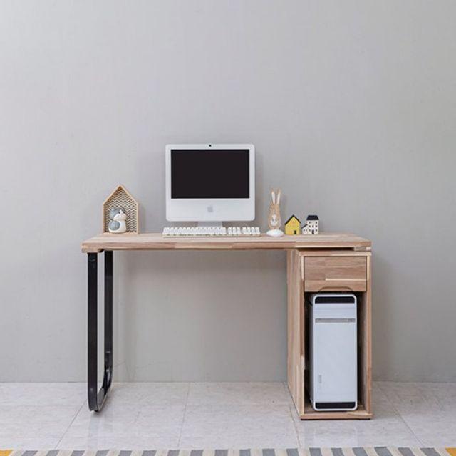 컴퓨터책상(1000) 본체통 학생 사무실테이블 원목가구