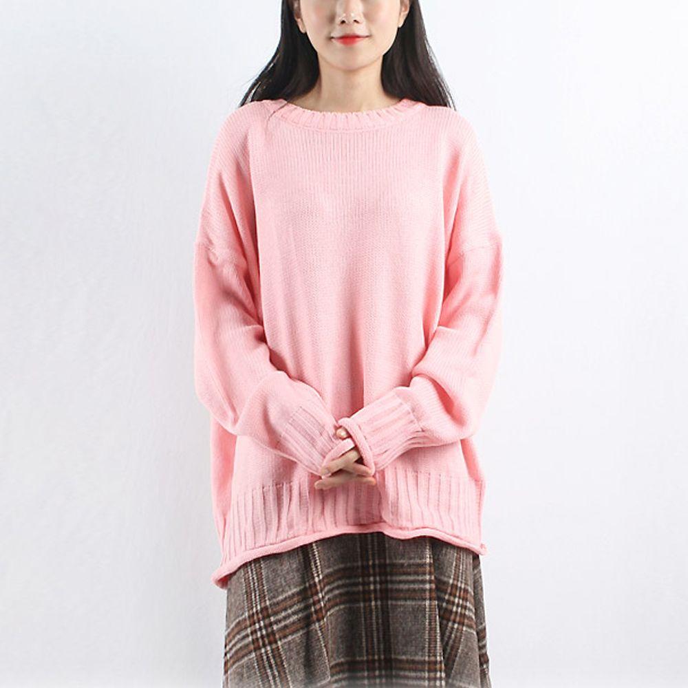 여성 돌돌이 귀여운 니트 티셔츠 다양한 코디 긴팔티