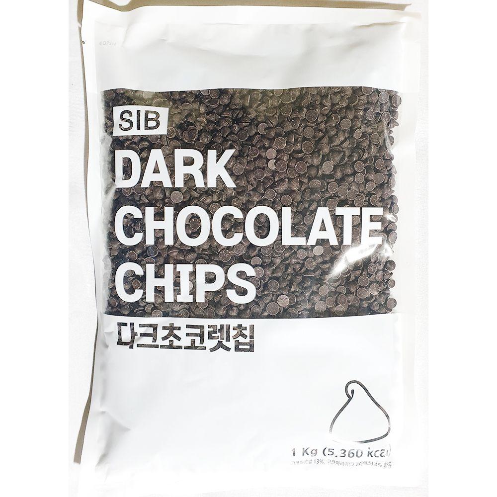 다크 초코렛칩 선인 1kg x10개 초코칩 전문 업소 카페