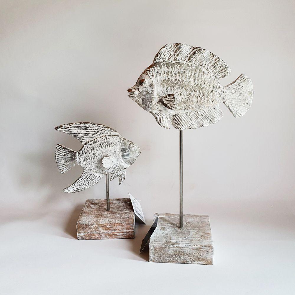 은빛 물고기 장식 엔틱 북유럽 빈티지 인테리어 소품