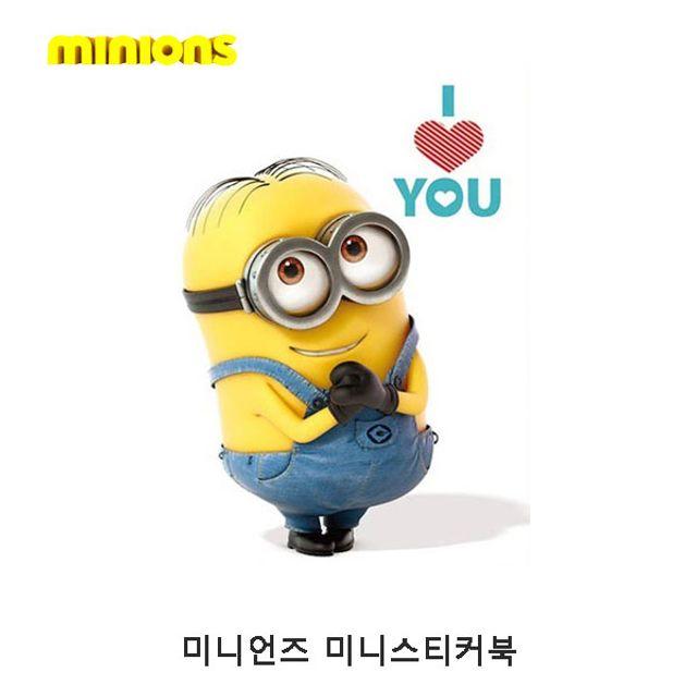미니언즈 미니스티커북 2P 유아스티커 스티커붙이기