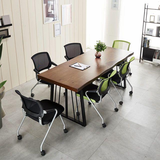2000 우드슬랩테이블세트 포그니체어 의자 사무실책상