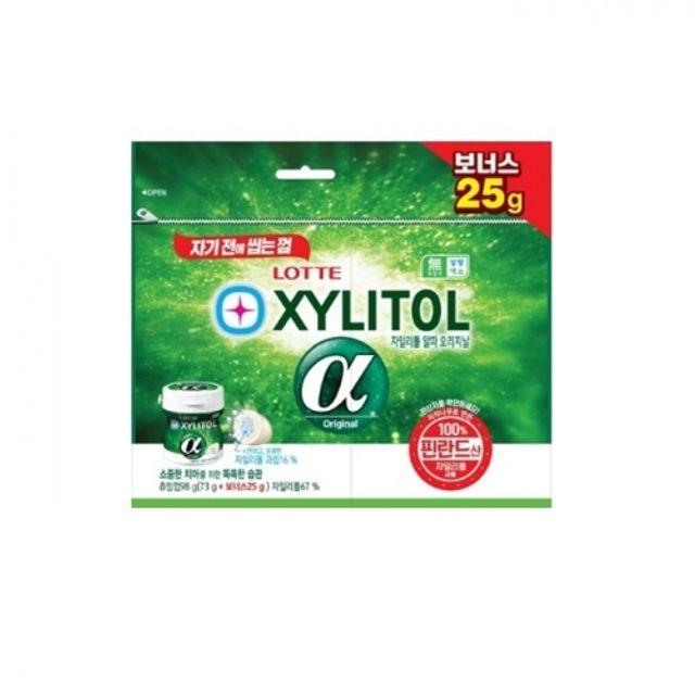 자일리톨 껌 알파 오리지날 리필 (73g + 25g) 24개