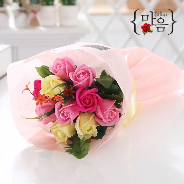 장미 10송이 꽃다발 핑크 로즈데이 성년의날 부부의날