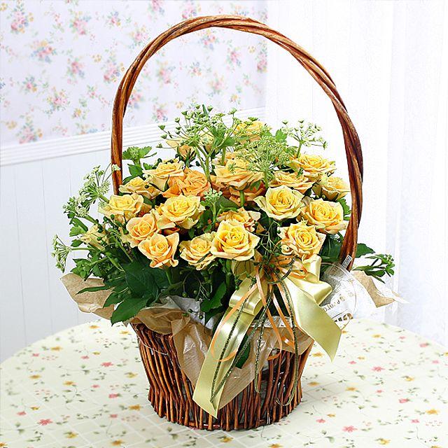 첫사랑 꽃바구니-중급 3시간배송 전국 꽃배달 고백 결혼 기념일 감사선물