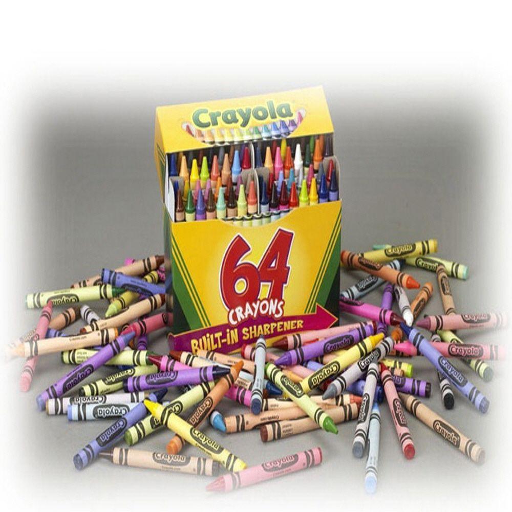 유치원 어린이집 일반 크레용 64색 크레용 깎기 부착