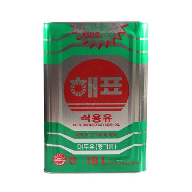 해표식용유(콩기름)18L 해표 식용유 콩기름 대두유 식품