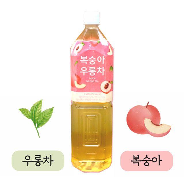 담터 복숭아 우롱차 1.5L 12개 박스